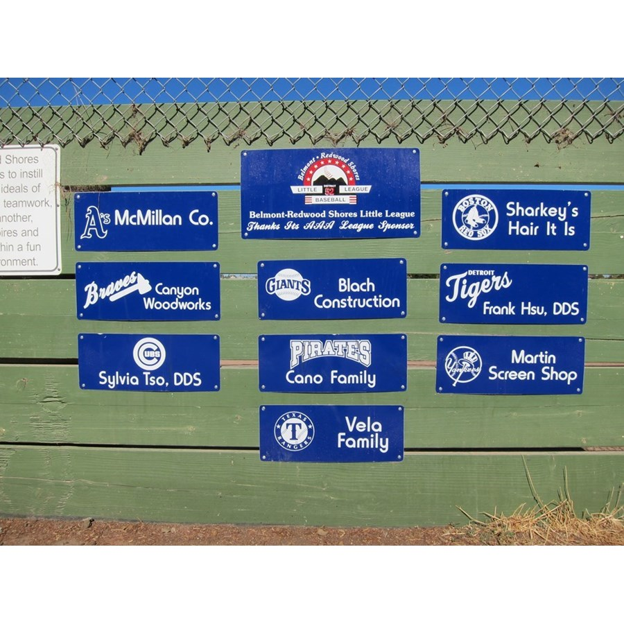 AAA Backstop Sign at Nesbit Field - Returning Sponsor  ($300)